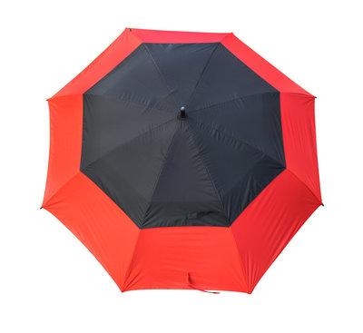 Masters TourDRI UV beschermende golfparaplu - POPPY RED/JET BLACK