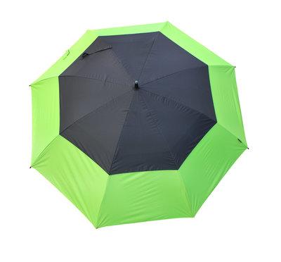 Masters TourDRI UV beschermende golfparaplu - LIME PUNCH/JET BLACK
