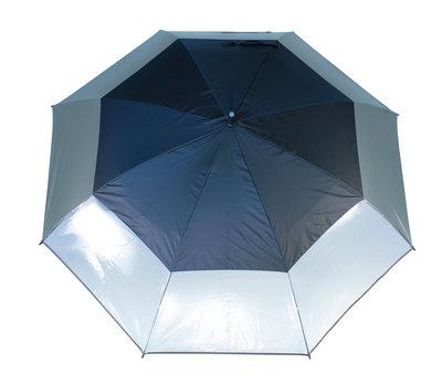 Masters TourDRI UV beschermende golfparaplu - STORM GREY/3 CLEAR PANELS