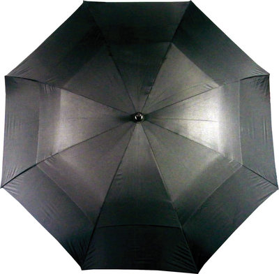 Boston Double Canopy Umbrella Black
