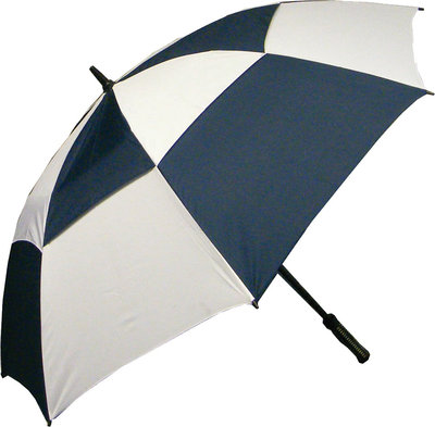 Boston Umbrella Double Canopy Royal Navy/White