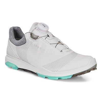 Ecco Biom Hybrid 3 Boa White/Emerald Golfschoenen Dames