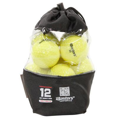 Masters Titanium Golfballen 12 st. - Geel