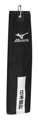Mizuno Tri-Fold Clip Towel Black