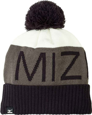 Mizuno Bobble Hat Black/Charcoal/White