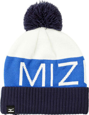 Mizuno Bobble Hat White/Royal/Navy