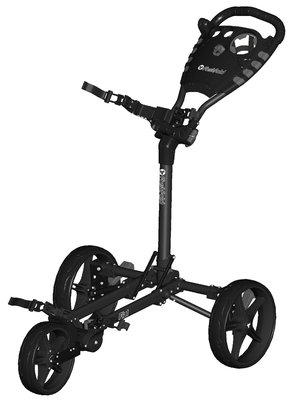 FastFold Flat 3-Wiel Golftrolley - Charcoal/Black
