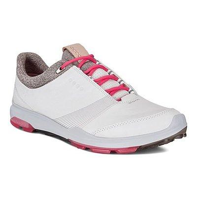 Ecco Biom Hybrid 3 White/Teaberry Golfschoenen Dames