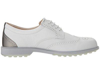 Ecco Classic Golf Hybrid White/Silver Golfschoenen Dames