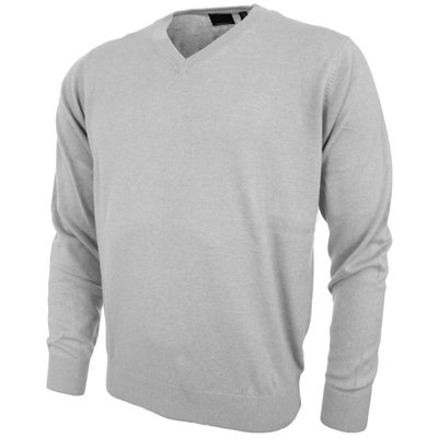 Greg Norman V Neck Pullover Grey Heather - Heren