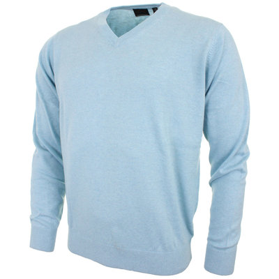 Greg Norman V Neck Pullover Polar Heather - Heren
