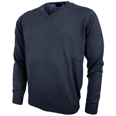 Greg Norman V Neck Pullover Navy - Heren