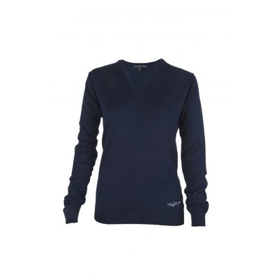 Greg Norman V Neck Merino Pullover Navy - Dames