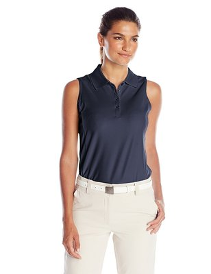 Greg Norman ProTek Sleeveless Polo Navy - Dames