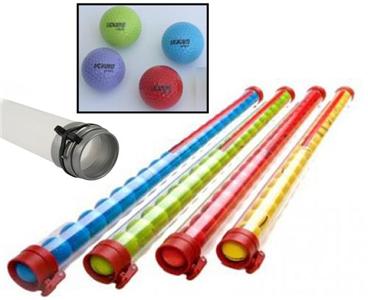 Clikka Tube Ball Retriever met 20 gekleurde golfballen - GEEL
