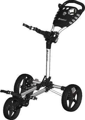 FastFold Flat 3-Wiel Golftrolley - Silver/Black