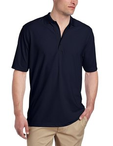 Greg Norman Mens Modern Fit Pique Polo Navy
