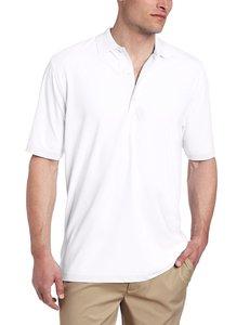 Greg Norman Mens Modern Fit Pique Polo White
