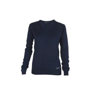 Greg Norman Ladies V Neck Pullover Navy
